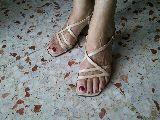Sandalia piel tiras - foto