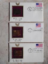 Replica de sellos de correos en oro - foto