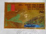 sello conmemorativo de cameroun en oro - foto