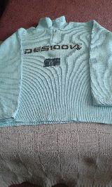 --// jersey  azul  c/cremallera, T. 16 - foto