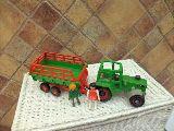 Playmobil tractor granja con remolque (n - foto
