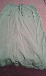 --// falda  larga   verde talla 42 - foto