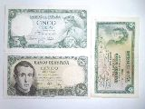 Billetes de 5 pesetas mas regalo  de otr - foto