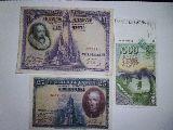 billetes de 1000 pesetas  100 y 25 - foto