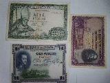 Lote billetes de 1000 100 y 50 pesetas - foto