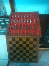 ajedrez florenfino bronce  tablero piel - foto