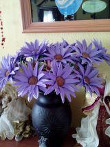 flores gerbera en goma eva - foto