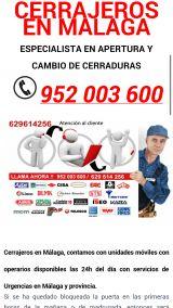 Cerrajero urgente en malaga 952003600 - foto