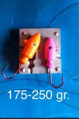 250 / 175 gramos moldes bucktails jigs - foto