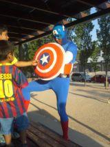 Capitan america spiderman payasos - foto