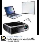 Alquiler de proyector y pantalla - foto