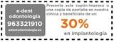 Implantes dentales DESCUENTO 30% - foto