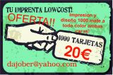 Oferta tarjetas de visita 20€ - foto