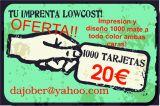 1000 tarjetas de visita baratas 20€ - foto