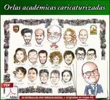Orlas acadÉmicas caricaturizadas - foto