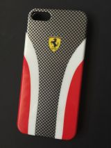 Funda para iPhone 5 Ferrari carbono roja - foto