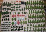 Lote 213 árboles maqueta trenes escala N - foto