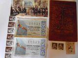 Sellos postales decimos loteria - foto