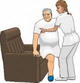 cuidado de personas mayores  en hospital - foto