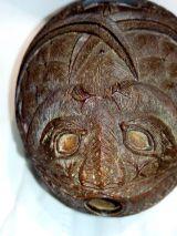 deposito de polvora,Antiguo coco tallado - foto
