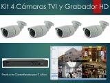 Kit 4 Cámaras HD  Grabador Full CCTV - foto
