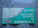 entrada formula 1 montmelo 1992 - foto