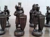 Ajedrez de figuritas moros y cristianos - foto