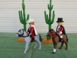 Playmobil texano e ingles  oeste - foto