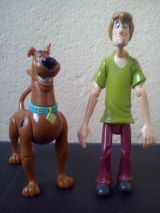 Figuras Scooby Doo y Shaggy articulados - foto
