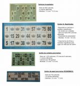 Cartones de bingo diferentes tipos - foto