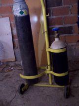 equipo para soldar y fundir con oxigeno - foto