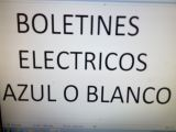 Boletines eléctricos agua gas - foto