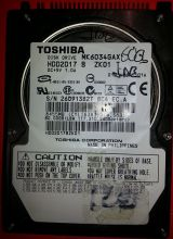 Disco duro ide toshiba 60gb 2.5 mk6034ga - foto