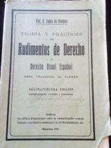 DERECHO USUAL ESPAÑOL DE 1926 - foto