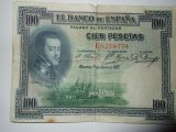 billete 100 pesetas 1925 - foto