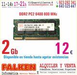 2Gb portátil SODIMM PC2 6400s - foto