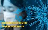 Desinfecciones coronavirus covid19 - foto