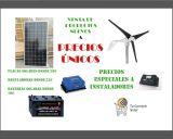 Baterías, inversores, placas solares - foto
