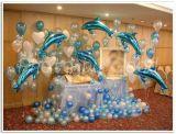Decoracion globos delfines - foto