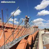 Montaje de tejados, pinchos - foto