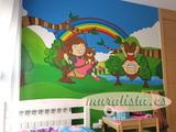 Murales infantiles pintura mural niños - foto