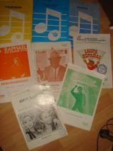 6 partituras  varias años 80 - foto