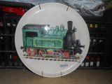 Plato artesanal locomotora ferrocarril - foto