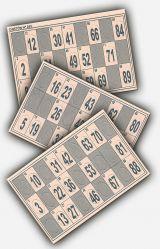 Cartones de bingo troquelados - foto