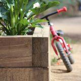Jardineras de madera - foto