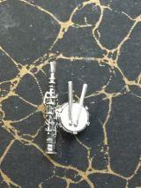 Pin Dulzaina y tamboril. Plata 1a ley - foto