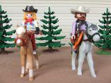Playmobil oeste ranchera y capataz - foto