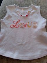 Camiseta tirantes bebé niña levis - foto