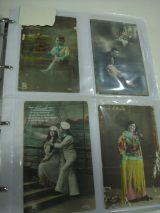 Tarjetas Postales Antiguas Coloreadas - foto
