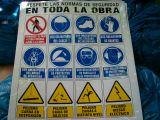 Cartel prevencion zona de obras - foto